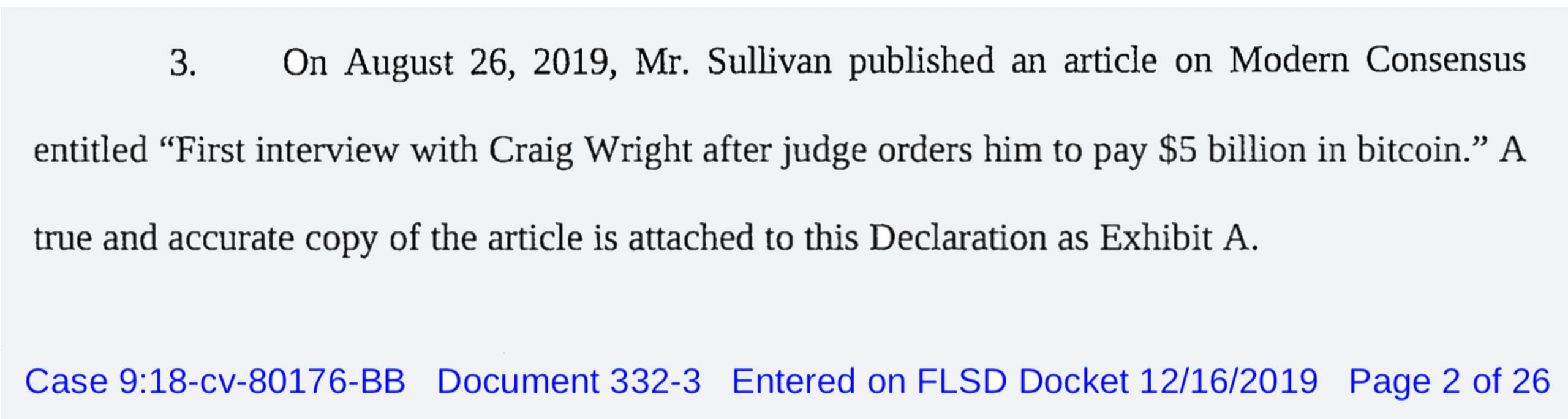 Kleiman Estate Asks Judge to Overrule Craig Wright's Objections