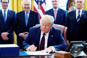 Trump Signs Largest Relief Bill in US History When Will 300x202 - Bitcoin News & Updates